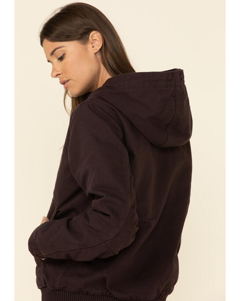 Carhartt Women's Sandstone Quilted-Flannel Active Work Jacket, Wine, hi-res