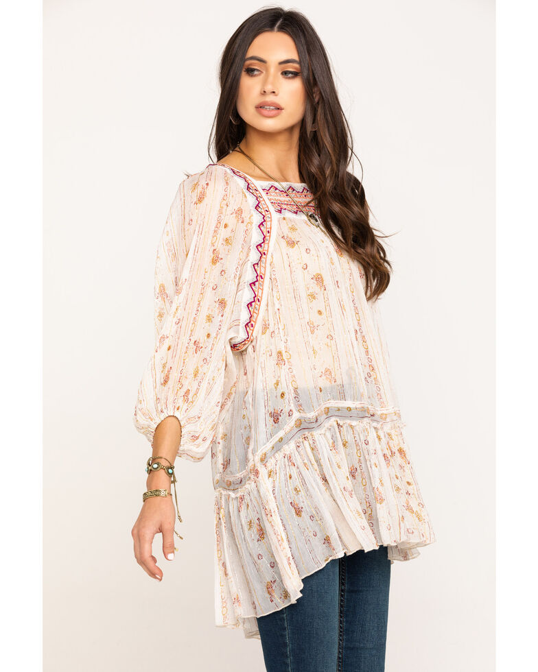 Free People Women's Dance The Magic Tunic, Ivory, hi-res