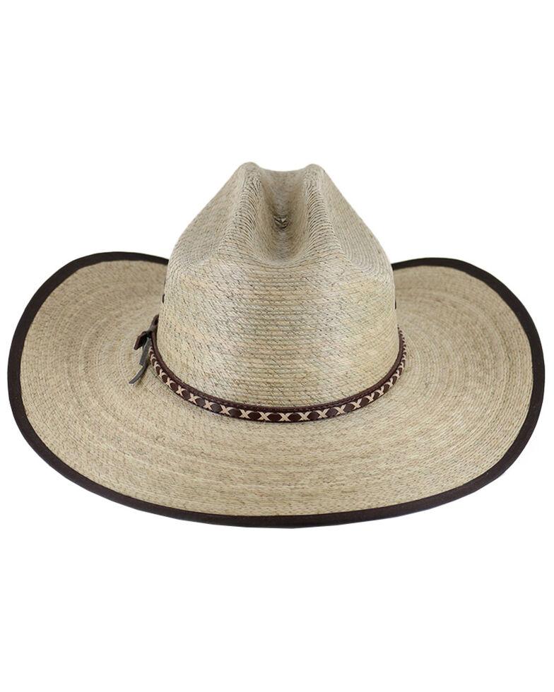 Cody James® Men's Brown Trimmed Straw Hat, Natural, hi-res