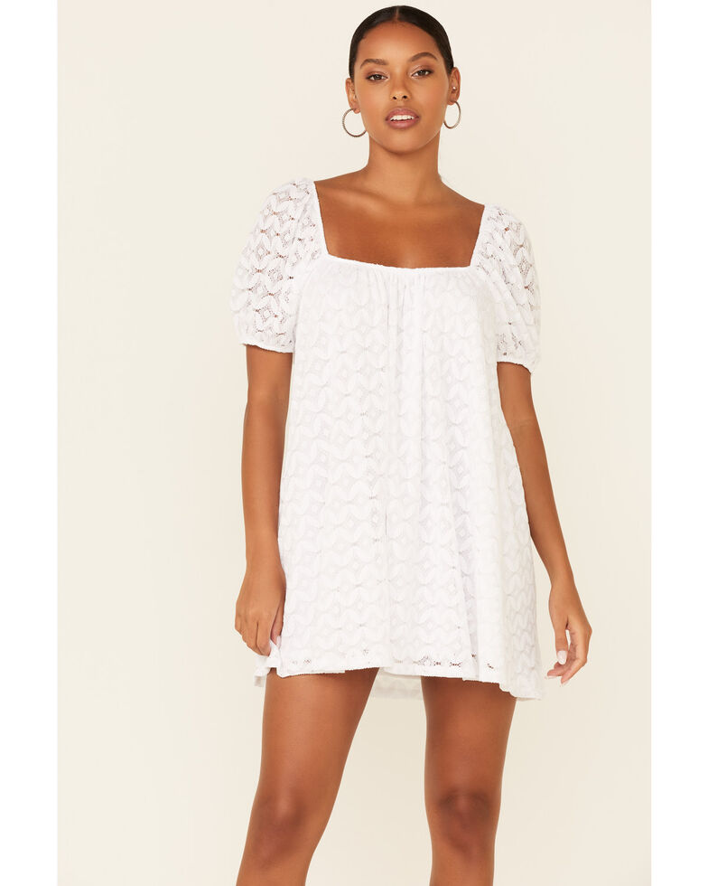Show Me Your Mumu Women's White Spacey Lacey Dress, White, hi-res