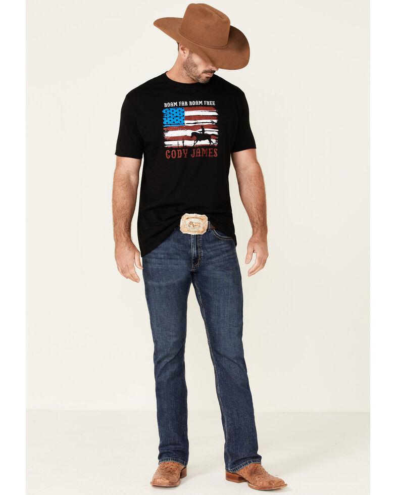 Cody James Men's Roam Free Flag Graphic Short Sleeve T-Shirt, Black, hi-res