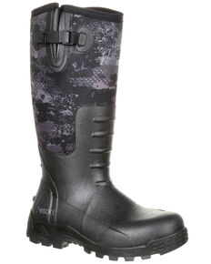 Rocky Men's Sport Pro Rubber Waterproof Outdoor Boots - Round Toe, Camouflage, hi-res