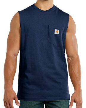 Carhartt Workwear Pocket Sleeveless Shirt - Big & Tall, Navy, hi-res