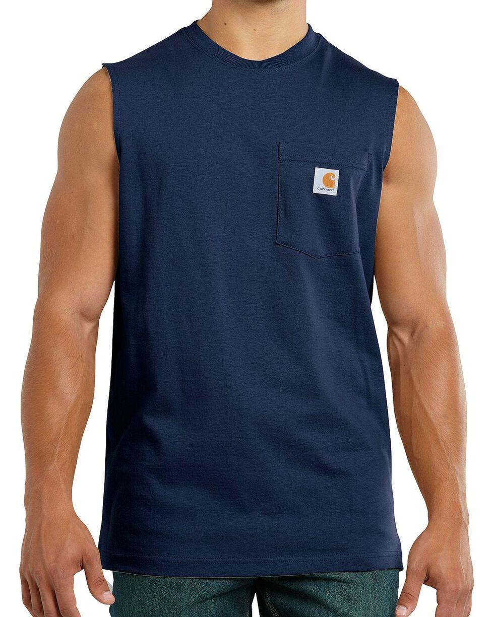 Carhartt Workwear Pocket Sleeveless Shirt - Big & Tall, Navy, hi-res