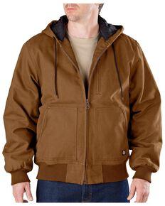 Dickies Men's Sanded Duck Hooded Jacket, Brown Duck, hi-res