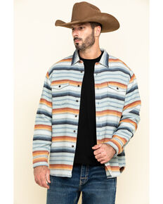 Pendleton Men's Serape Beach Striped Long Sleeve Western Shirt , Blue, hi-res
