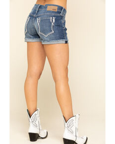 Ariat Women's Lonestar Boyfriend Shorts, Blue, hi-res