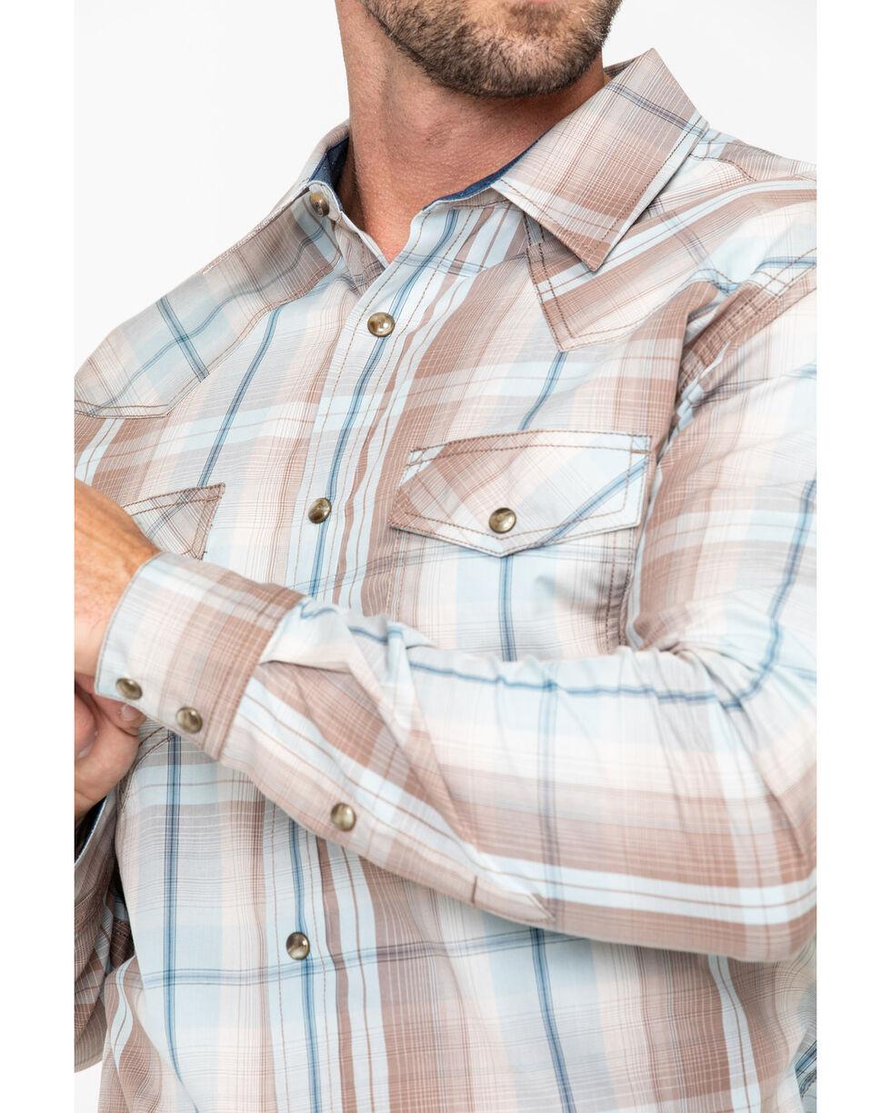 Cody James Men's Sand Point Plaid Long Sleeve Western Shirt - Tall , Brown, hi-res