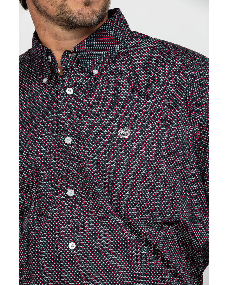Cinch Men's Tencel Geo Print Short Sleeve Western Shirt - Big , Multi, hi-res