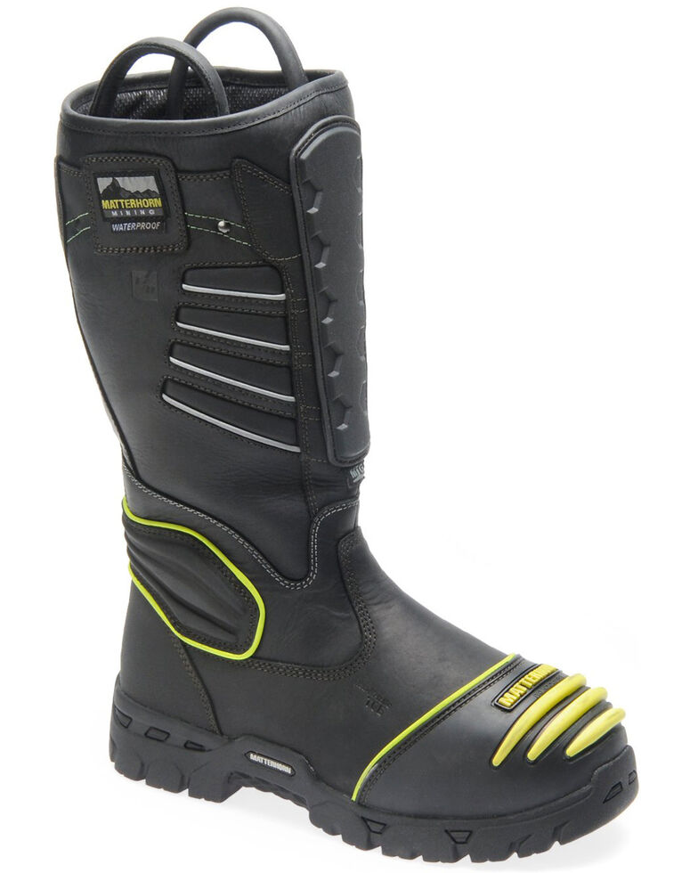 Matterhorn Men's Waterproof Mining Work Boots - Composite Toe, Black, hi-res