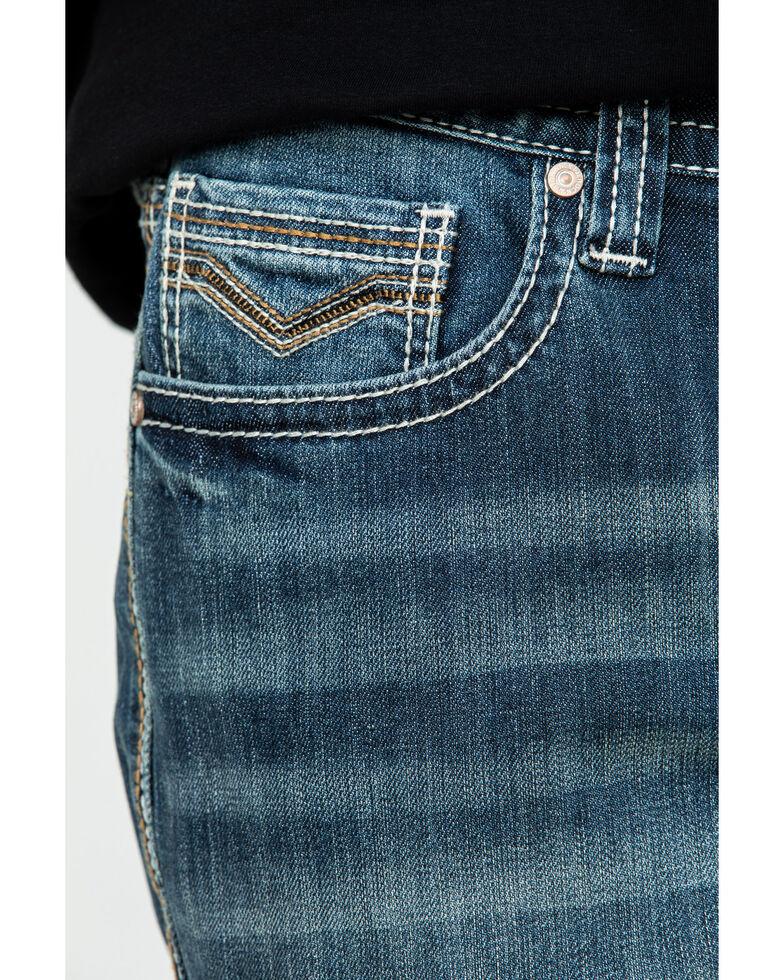 Rock & Roll Cowboy Men's Reflex Double Barrel Relaxed Bootcut Jeans , Blue, hi-res