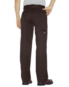 Dickies Men's Loose Fit Double Knee Work Pants, Dark Brown, hi-res