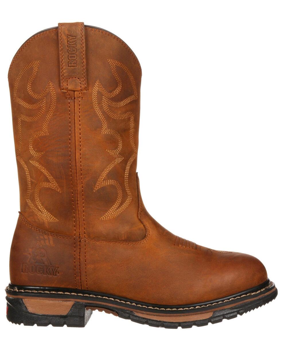 Rocky Women's Original Ride Waterproof Western Work Boots - Round Toe, Brown, hi-res
