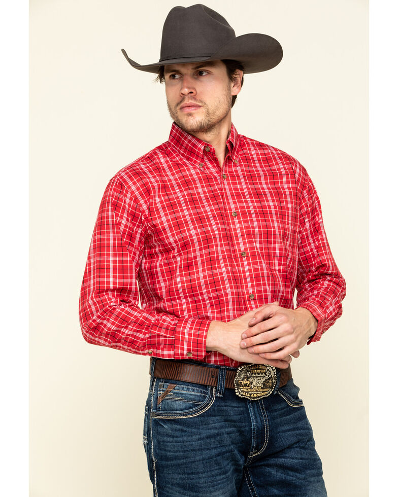 Wrangler Men's Assorted Riata Multi Plaid Long Sleeve Western Shirt, Multi, hi-res