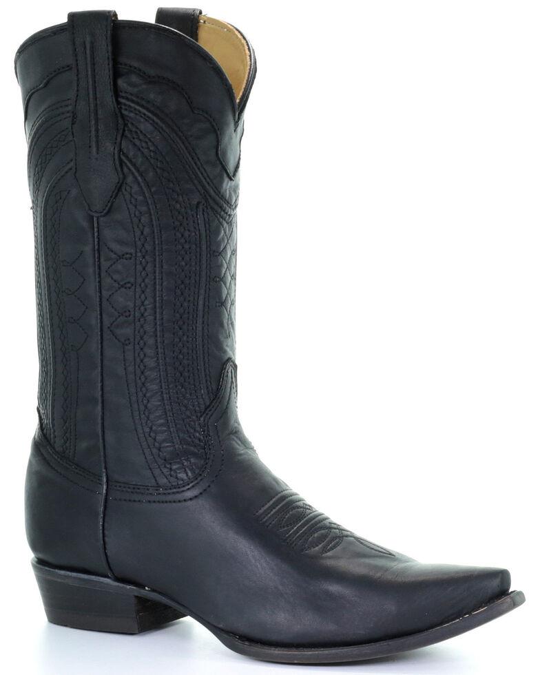Corral Men's Luke Western Boots - Snip Toe, Black, hi-res