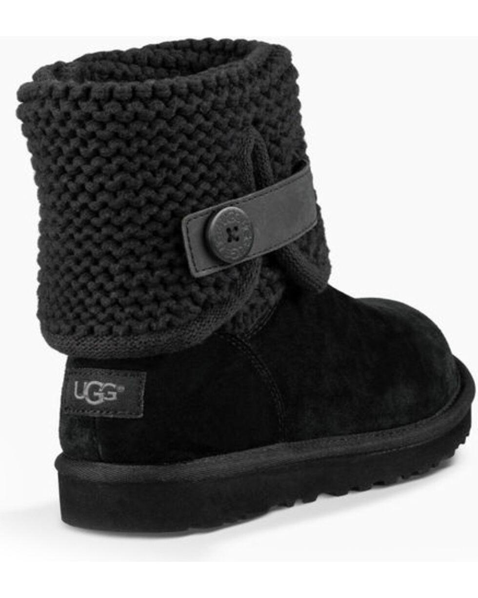 UGG Women's Black Shaina Boots - Round Toe , Black, hi-res
