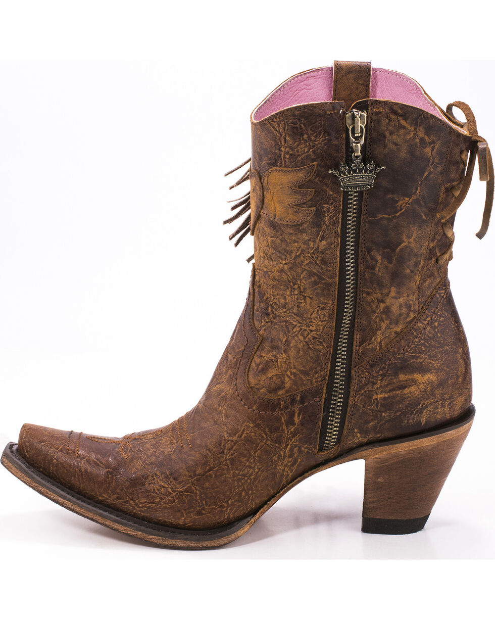 Junk Gypsy by Lane Women's Brown Spirit Animal Boots - Snip Toe , Brown, hi-res