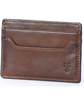 Frye Men's Logan Card Case , Dark Brown, hi-res