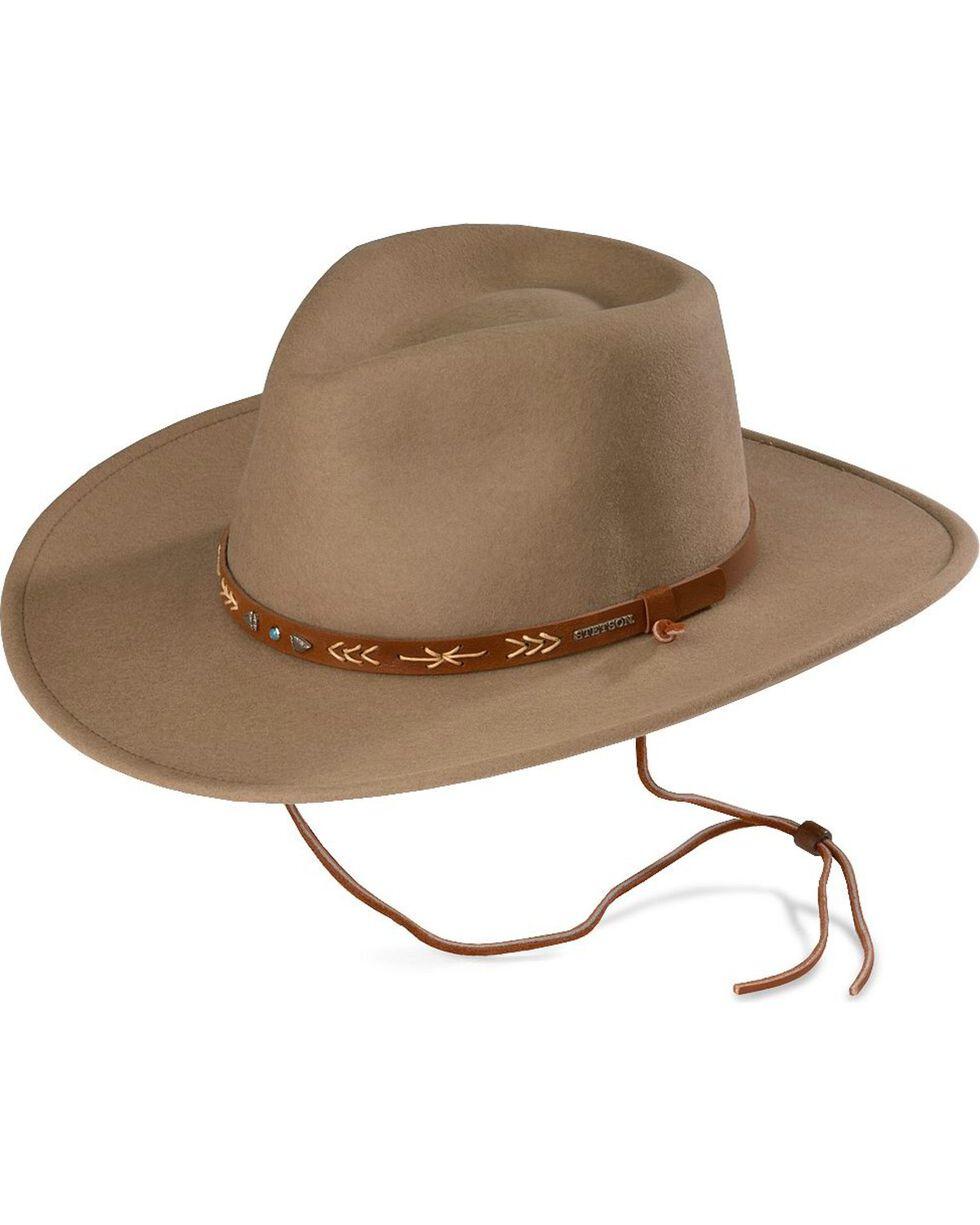 Stetson Santa Fe Crushable Wool Hat, Mushroom, hi-res