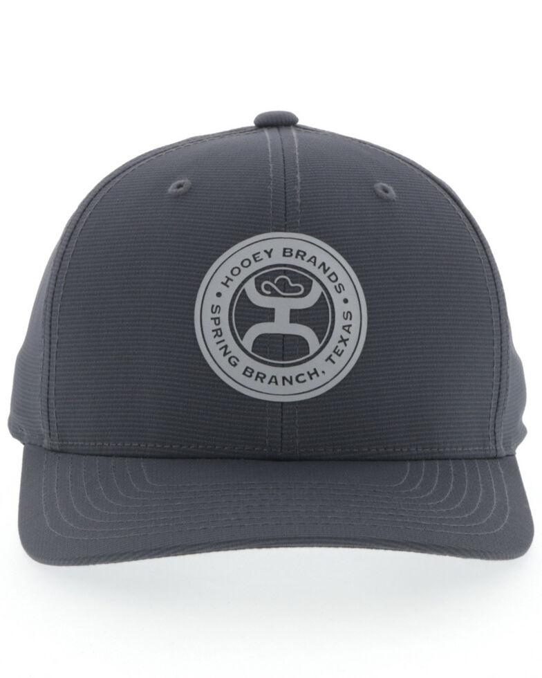 HOOey Men's Grey Flight Logo Patch Flex Fit Cap , Grey, hi-res