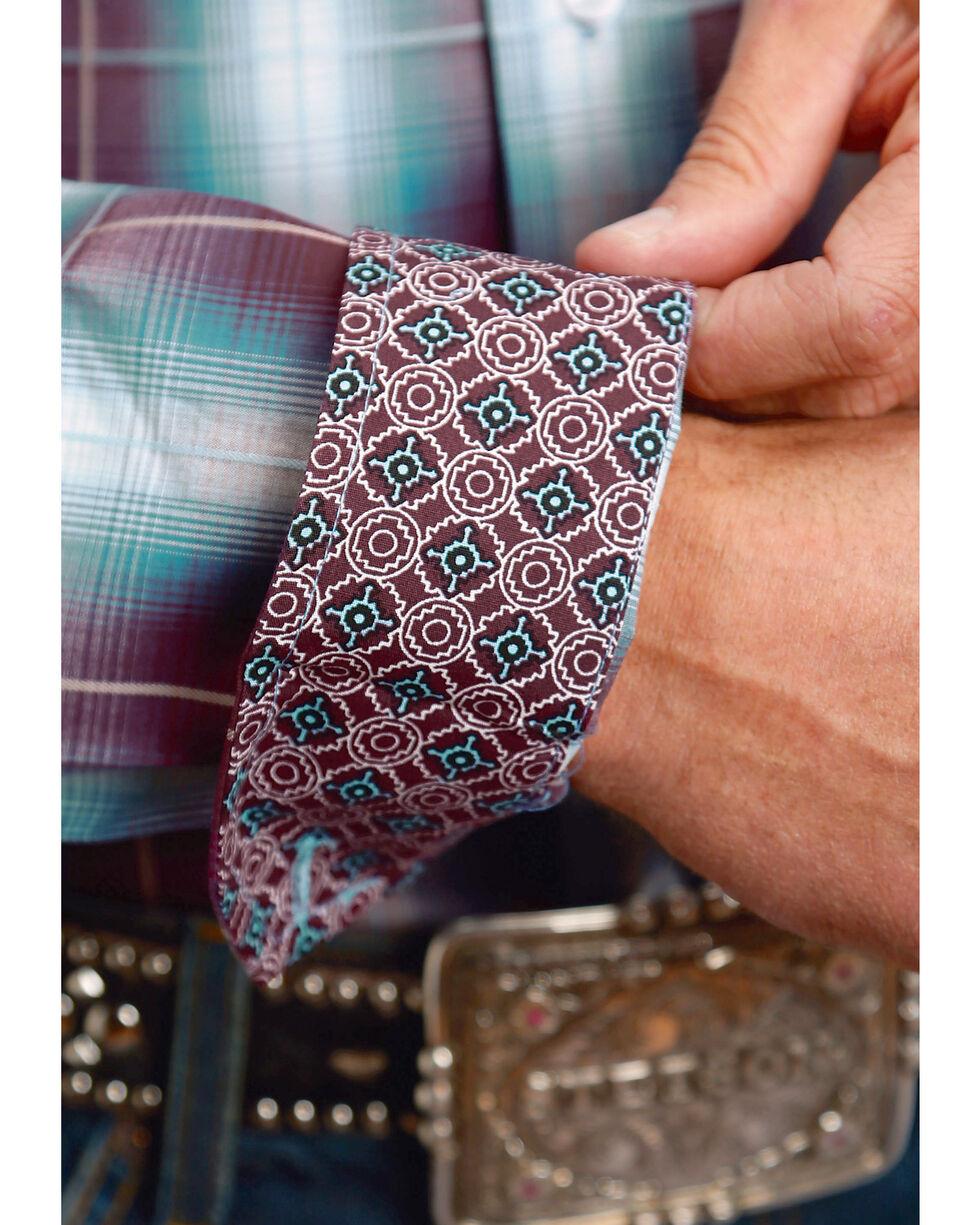 Stetson Men's Purple Plaid Long Sleeve Button Down Shirt - Big & Tall, Purple, hi-res