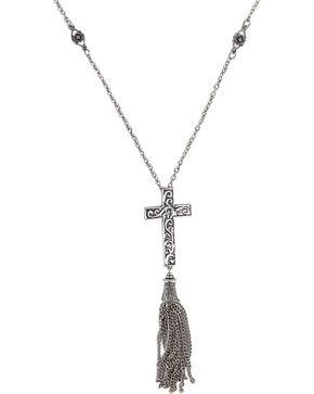 Shyanne® Women's Filigree Cross Necklace , Silver, hi-res