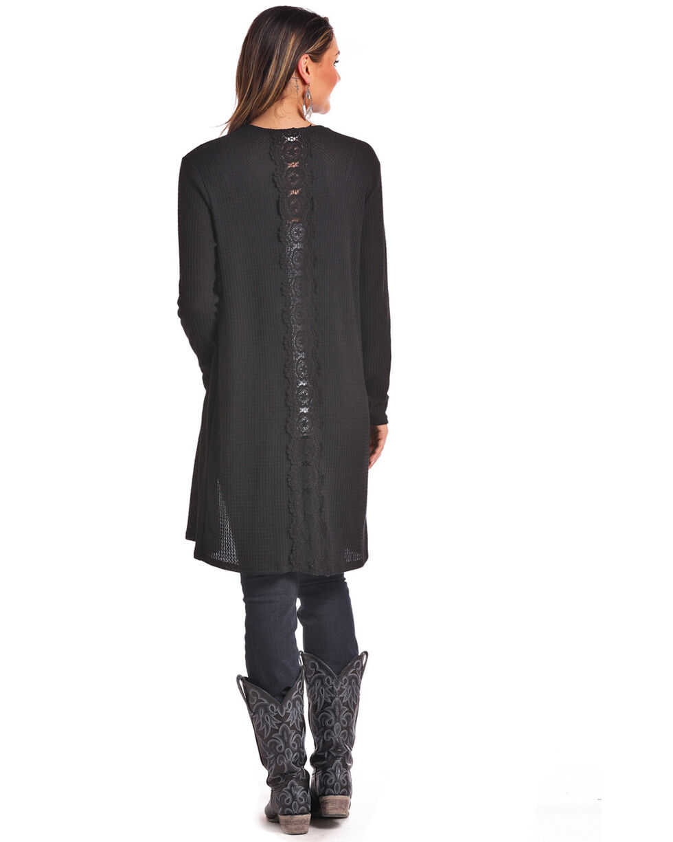 Panhandle Women's Lace Back Duster, Black, hi-res