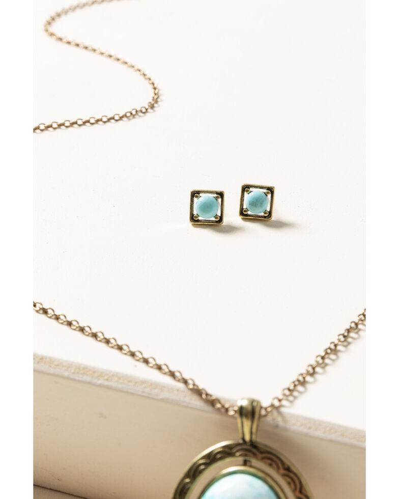 Shyanne Women's Gilded Gold Reversible Pendant Set, Gold, hi-res