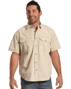 Filson Men's Gray Sky Short Sleeve Field Shirt , Light Grey, hi-res