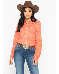 2c842c82 Cinch Women's Pattern Long Sleeve Button down Shirt