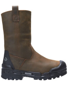 Wolverine Men's Warrior Met Guard Western Work Boots - Composite Toe, Brown, hi-res