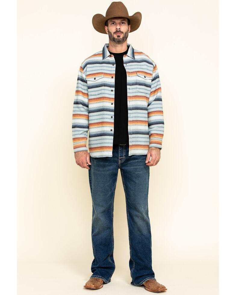 Pendleton Men's Serape Beach Striped Long Sleeve Western Shirt , Blue, hi-res