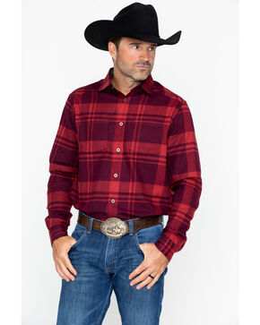 Under Armour Men's Borderland Flannel , Red, hi-res