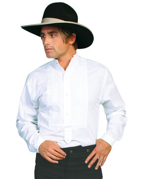 Wahmaker Old West by Scully Gambler Shirt - Big & Tall, White, hi-res