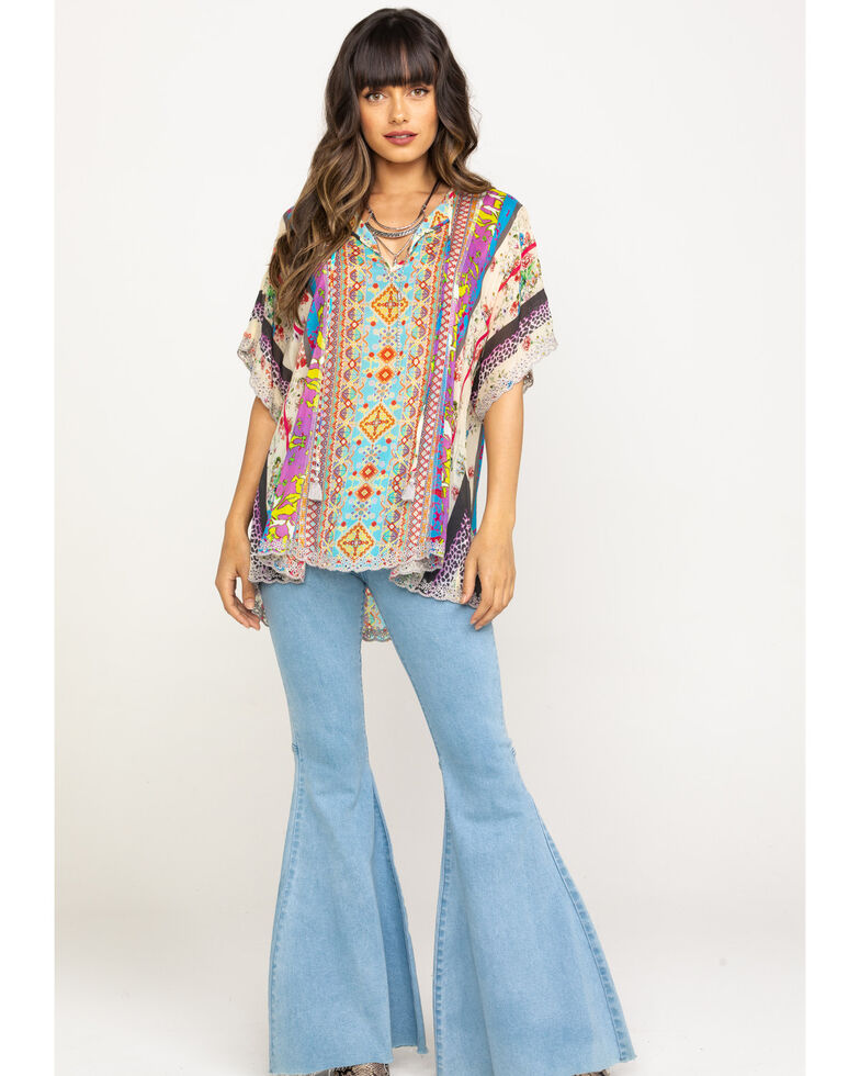 Johnny Was Women's Floral Blouse, Multi, hi-res