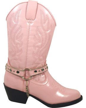 Smoky Mountain Youth Girls' Charleston Western Boots - Round Toe, Pink, hi-res