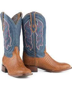 Stetson Men's Tyler Exotic Boots, Tan, hi-res