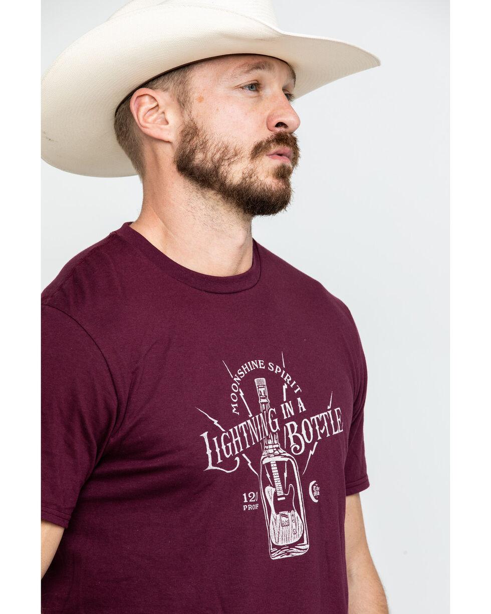Moonshine Spirit Men's Lightning Bottle Graphic T-Shirt , Maroon, hi-res