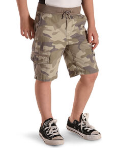 Silver Toddler Boys' Camo Drawstring Cargo Shorts, Green, hi-res