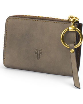 Frye Women's Ilana Harness Small Zip Wallet , Grey, hi-res