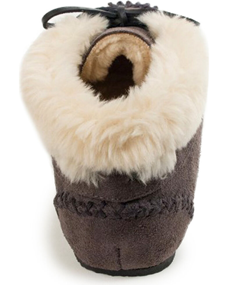 Women's Minnetonka Chrissy Bootie Moccasins, Grey, hi-res
