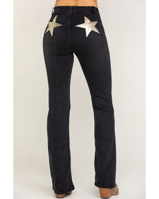Free People Women's Black Firecracker Flare Jeans, Black, hi-res