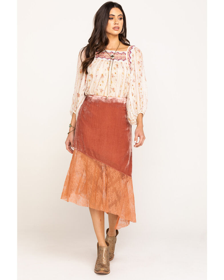 Free People Women's My Lacey Midi Skirt, Blush, hi-res