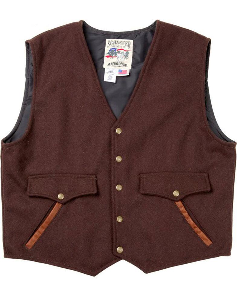 Schaefer Outfitter Men's Chocolate Stockman Melton Wool Vest - 2XL, Chocolate, hi-res