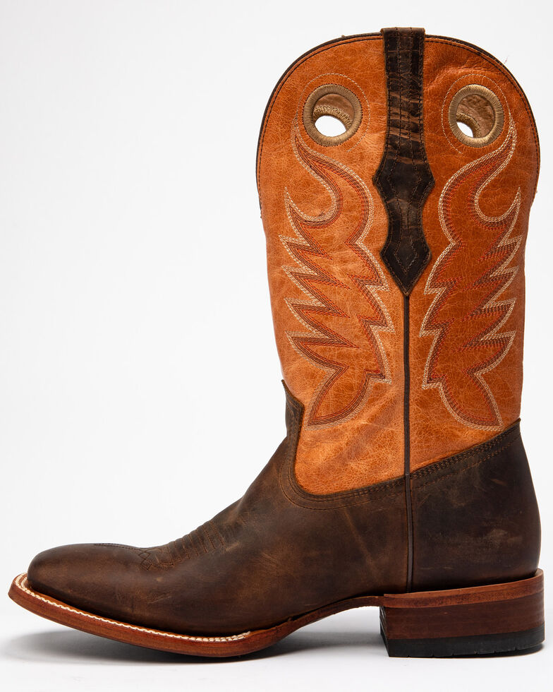 Cody James Men's Union Western Boots - Wide Square Toe, Chocolate, hi-res