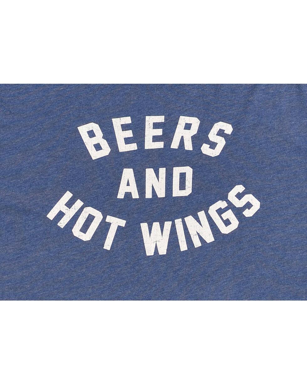 Original Retro Brand Men's Beers and Hot Wings Tee, Bright Blue, hi-res