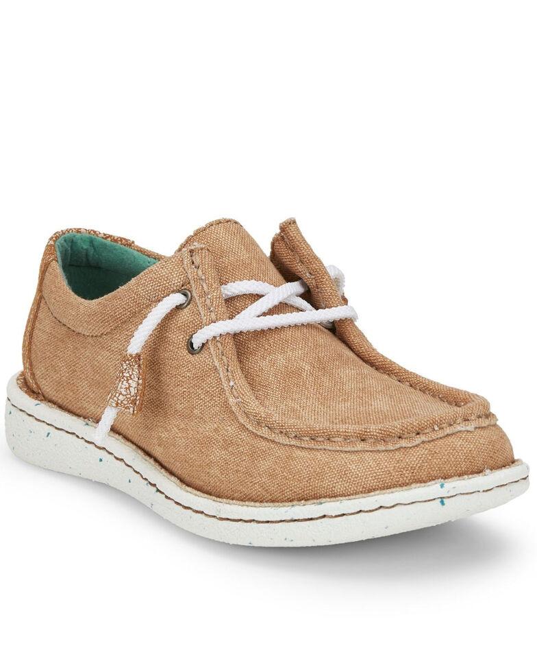 Justin Women's Hazer Honey Shoes - Moc Toe, Honey, hi-res