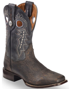 Dan Post Men's Oiled Distressed Stockman Boots, Black, hi-res