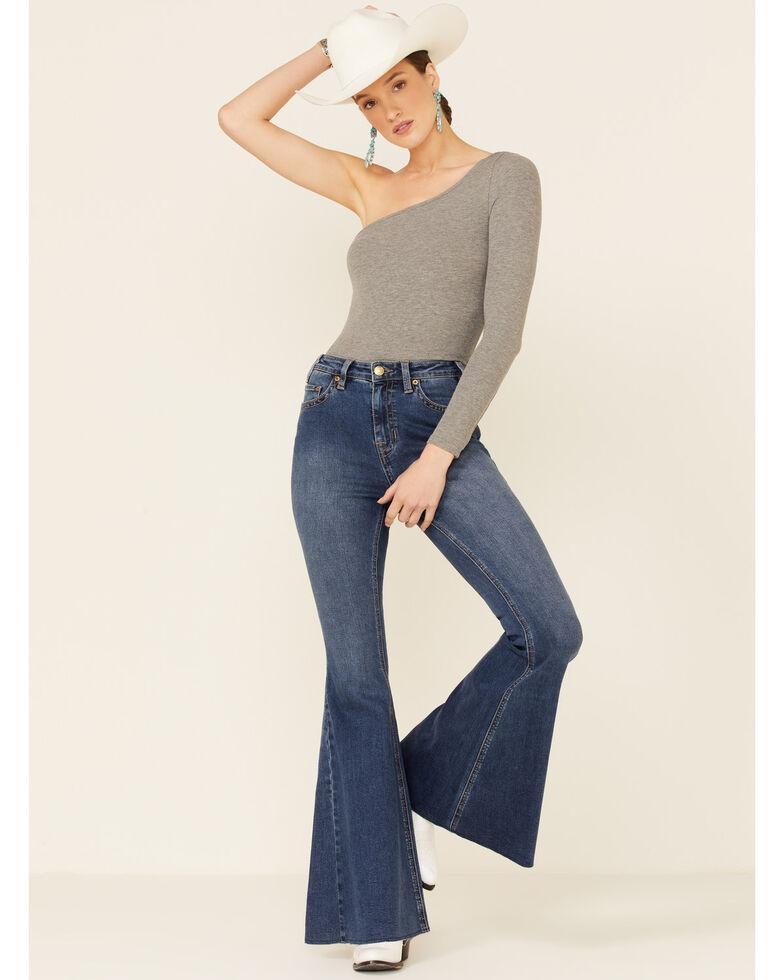 Panhandle Women's Extra Stretch High Rise Flare Denim Jeans, Light Blue, hi-res