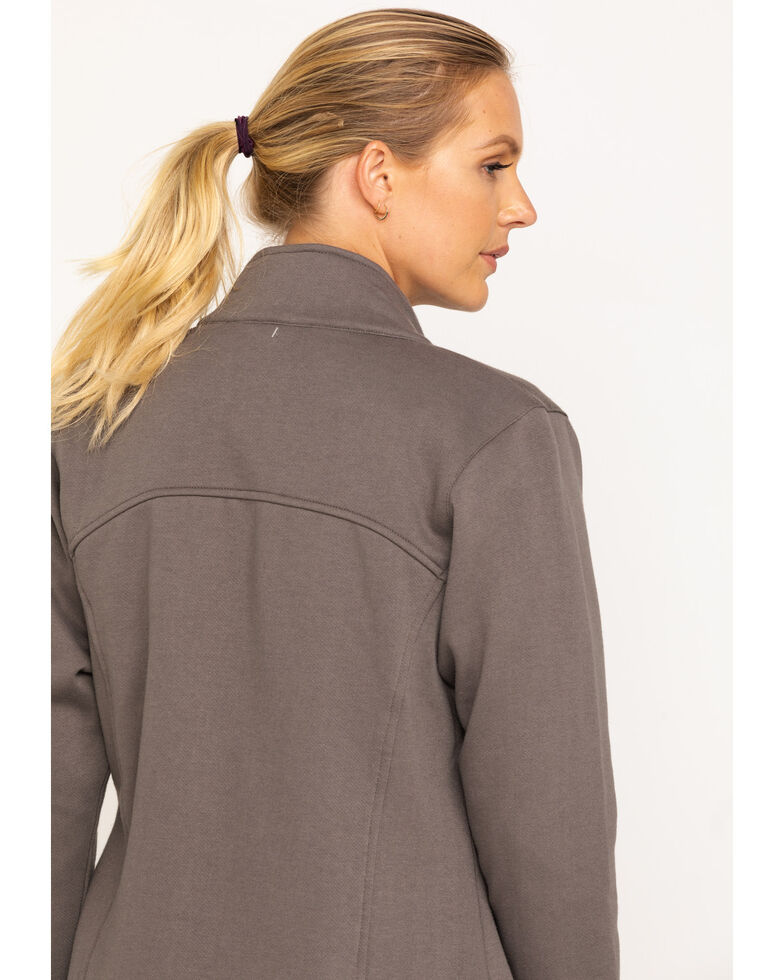 Wrangler Riggs Women's Charcoal Zip-Up Work Jacket, Charcoal, hi-res